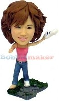 Bobble Head Doll fashion female fashion with shoe in hand