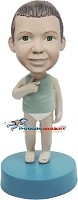 Boy In Underwear bobblehead Doll