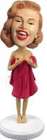 Girl in towel Bobble Head Doll