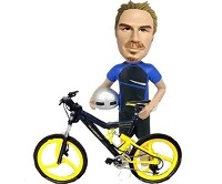 Extreme Cyclist bobblehead Doll