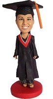 Female Graduate  Bobble Head Doll Doll