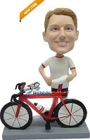 Bicycle Riding Man bobblehead Doll