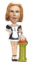 Housekeeper Girl Bobble Head Doll Doll