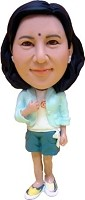 Bobble Head Doll female in dress 2