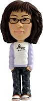 Bobble Head Doll girl in jeans
