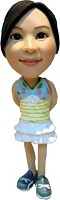 Bobble Head Doll Girl in Dress 4