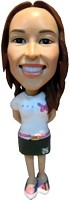 Bobble Head Doll Girl in Dress 7