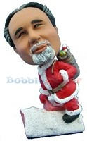 Santa With Presents bobblehead Doll