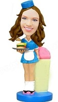 Waitress  Bobble Head Doll Doll