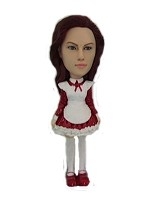 women in Apron Bobble Head Doll Doll