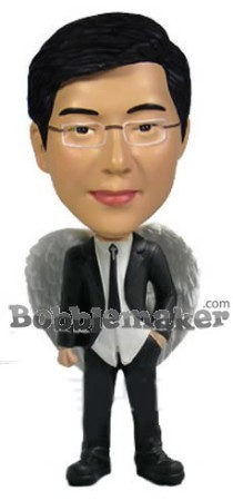 Business Man With Angel Wings bobblehead Doll