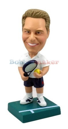 Male Tennis Player bobblehead Doll