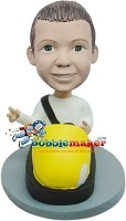 Child In Bumper Car bobblehead Doll