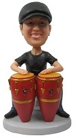 Custom Bobble Head | Man Playing Congo Bobblehead | Gift For Men