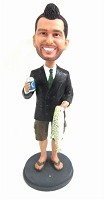 Custom Bobble Head | Fisherman Businessman Bobblehead | Gift Ideas For Men