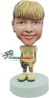 Custom Bobble Head | Girl Holding Hat Bobblehead | Gift For Men