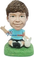 Custom Bobble Head | Boy With Bunny Bobblehead | Gifts for Kids