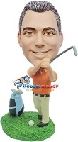Custom Bobble Head | Golfing Male Bobblehead | Gift Ideas For Men
