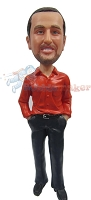 Custom Bobble Head | Tucked In Dress Shirt Bobblehead | Gift For Men