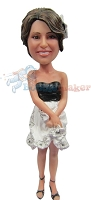 Custom Bobble Head | Flower Dress Female Bobblehead | Gift Ideas For Women