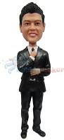 Custom Bobble Head | Adjusting Tie Male Bobblehead | Gift For Men