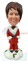 Custom Bobble Head Santa's Helper | Christmas Gifts For Women