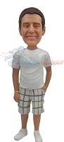 Custom Bobble Head | Plaid Shorts Man Bobblehead | Gift For Men