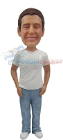 Custom Bobble Head | T-Shirt And Jeans Bobblehead | Gift For Men