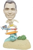 Custom Bobble Head | Retro Surfing Man Bobblehead | Gift Ideas For Men
