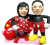 Custom Bobble Head | Mickey Mouse Couple Bobblehead | Gift Ideas For Couples