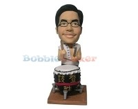 Custom Bobble Head | Ancient Drummer Bobblehead | Gift Ideas For Men