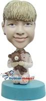 Custom Bobble Head | Girl With Teddy Bear Bobblehead | Gifts for Kids