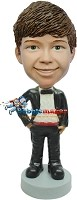 Custom Bobble Head | Groomsman With Bow Tie Bobblehead | Gift Ideas For Wedding