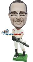 Custom Bobble Head | Left-Handed Baseball Batter Bobblehead | Gift Ideas For Men
