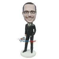 Custom Bobble Head | Laid Back Businessman Bobblehead | Gift Ideas For Men