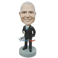 Custom Bobble Head | Handshake Executive Bobblehead | Gift Ideas For Men