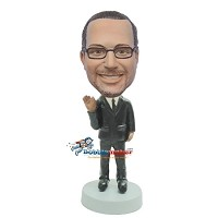 Custom Bobble Head | Waving Businessman Bobblehead | Gift Ideas For Men