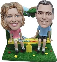 Custom Bobble Head | Couple On See Saw Bobblehead | Gifts for Couples