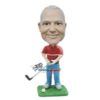 Custom Bobble Head | Golfing Man Swinging At Ball Bobblehead | Gift Ideas For Men