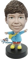 Custom Bobble Head | Double Peace Sign Kid Bobblehead | Gifts for Kids