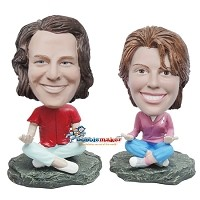Custom Bobble Head | Meditating Yoga Couple Bobblehead | Gifts For Couples