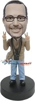 Custom Bobble Head | Peace Loving Photographer Bobblehead | Gift Ideas For Men