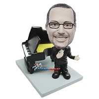 Custom Bobble Head | Male Next To Piano Bobblehead | Gift For Men