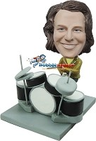 Custom Bobble Head | Slick Drummer Male Bobblehead | Gift Ideas For Men