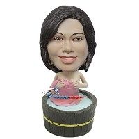 Custom Bobble Head | Female Taking Bath Bobblehead | Gift For Women