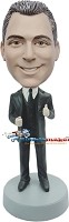 Custom Bobble Head | Thumbs Up Businessman Bobblehead | Gift For Men