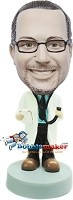 Custom Bobble Head | Male Doctor Holding Stethoscope Bobblehead | Gift Ideas For Men