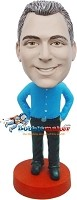 Custom Bobble Head | Casual Hands In Pockets Man Bobblehead | Gift For Men