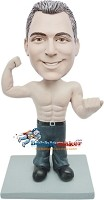 Custom Bobble Head | Shirt Off Muscle Man Bobblehead | Gift For Men