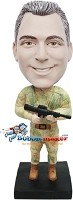 Custom Bobble Head | Desert Camo Male Bobblehead | Gift Ideas For Men